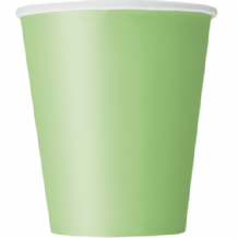 Lime Green Paper Cups 9oz (270ml) (14pcs)